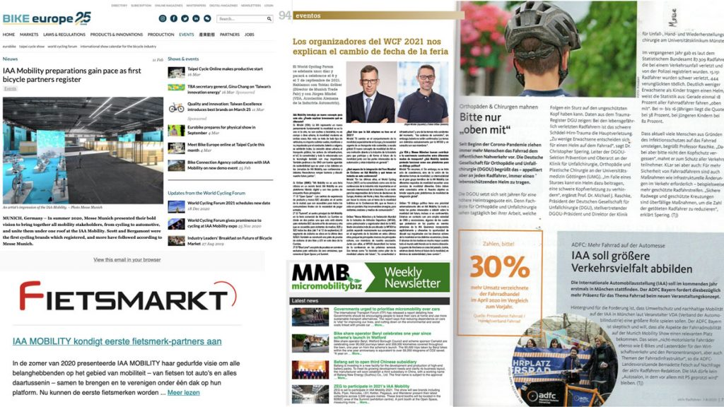 Messe München IAA Mobility clippings